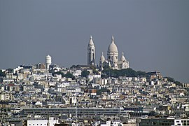 View over Montmartre district