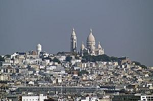 18th arrondissement of Paris - View over Montmartre district in the 18th arrondissement.