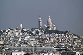 18th arrondissement of Paris - View over Montmartre district in the 18th arrondissement.