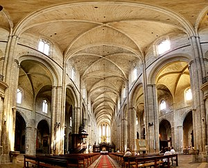 Interior of the Basilique of St Maximim la Sainte Baume, France.