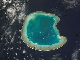 Bassas da India vue de satellite.