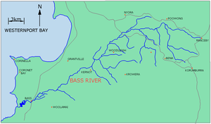 Bass River (Victoria) - Map of Bass River, Victoria