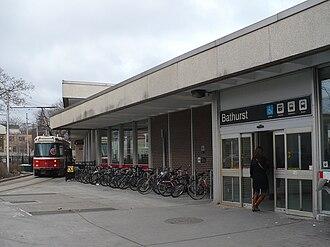 Bathurst station (Toronto) - Image: Bathurst TTC front door