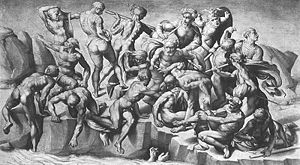 Battle of Cascina (Michelangelo) - Copy of the Battle by Michelangelo's pupil Aristotele da Sangallo