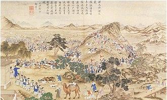 Jahangir Khoja - Battle at the River Honbasi near Aksu, 1828