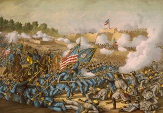 Battle of Williamsburg - Battle of Williamsburg, by Kurz and Allison, 1893