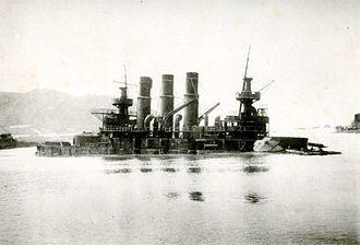 Pre-dreadnought battleship - ''Retvizan'' sinks in Port Arthur