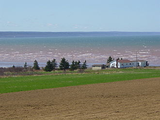 Bay of Fundy - The Minas Basin in early May.