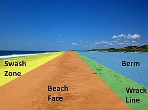 Beach wikipedia for Soil erosion meaning in hindi