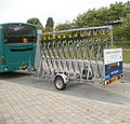 Beacons Bus bicycle trailer, Brecon bus station - geograph.org.uk - 2433258.jpg