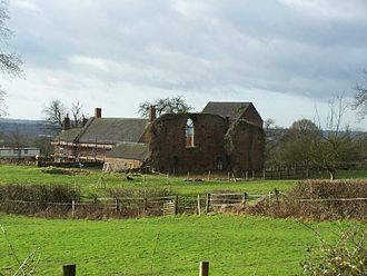Eastwood, Nottinghamshire - The remains of Beauvale Priory in 2007