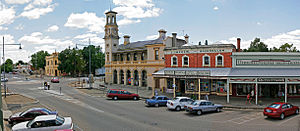 Beechworth - Panorama of Beechworth town centre