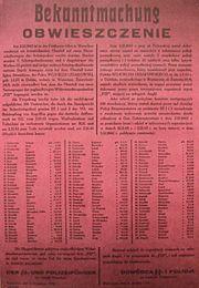 Bekanntmachung Warschau 1943