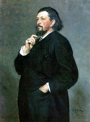 Alexander Glazunov - Portrait of Mitrofan Belyayev by Ilya Repin (1886)