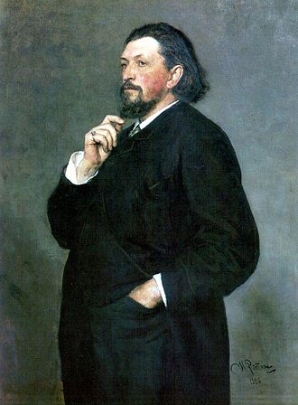 Pyotr Ilyich Tchaikovsky and the Belyayev circle - Portrait of Mitrofan Belyayev by Ilya Repin