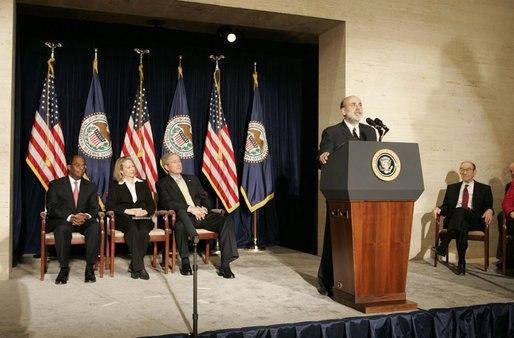 Ben Bernanke sworn in to the Federal Reserve Post