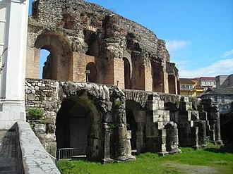 Roman Theatre, Benevento - Exterior view of the theatre.