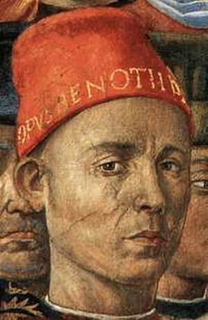 Benozzo Gozzoli - Self-portrait from fresco Procession of the Magi