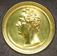 Berlin, Kreuzberg, Bergmannstrasse, Dreifaltigkeitsfriedhof II, Grab Philipp Konrad Marheineke, Portrait-Tondo.jpg