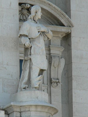 Bermudo I of Asturias - Statue of Bermudo I in the north facade of the main floor of the Royal Palace of Madrid.