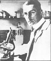 Photograph of Spilsbury in his laboratory