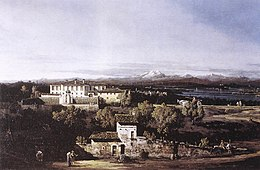 Bernardo Bellotto, il Canaletto - View of the Villa Cagnola at Gazzada near Varese - WGA01816.jpg