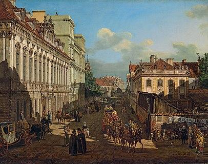 Bernardo Bellotto - Miodowa Street in Warsaw