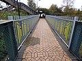 Bescot Stadium Station - sculpture railings along path to the car park (26408348079).jpg