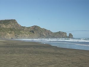 Out of the Woods (song) - Bethells Beach, the beach displayed at the end of the video