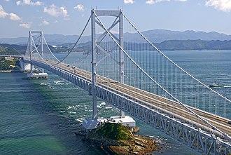 1985 in Japan - Ōnaruto Bridge, completed in 1985.