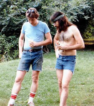 Bil Herd - Bil Herd (right) and chip designer Dave DiOrio circa 1983.