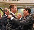 Bill Galvano, Andy Gardiner, Matt Hudson, and Steve Crisafulli greet each other in the Capitol rotunda.jpg