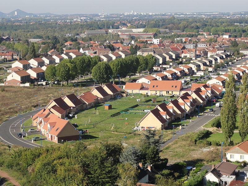 Cités de la Fosse n° 10 - 20 de la Compagnie des mines de Courrières, Billy-Montigny et Rouvroy, Pas-de-Calais, Nord-Pas-de-Calais, France.