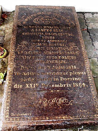 Infant Jesus Cathedral - Grave slab of Bishop Charles Hyacinth Valerga in Quilon