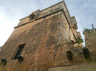 Birkirkara Tower - The tower as seen from Għar il-Ġobon Street
