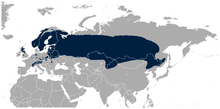 Distribution of black grouse globally