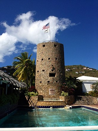 Charlotte Amalie, U.S. Virgin Islands - Blackbeard's Castle (Skytsborg) was built on Government Hill in 1679 and is today a U.S. National Historic Landmark.