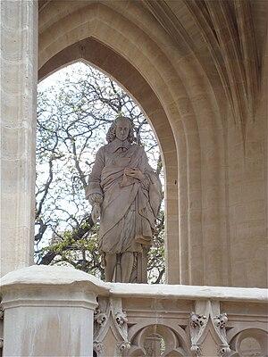 Français : Statue de Blaise Pascal sous la Tou...