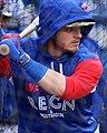 Blue Jays third baseman Josh Donaldson takes batting practice before the AL Wild Card Game. (30051704491).jpg