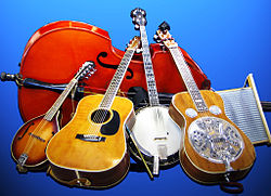 Bluegrass gospel group's Musical Instruments, Crossover Junction.jpg