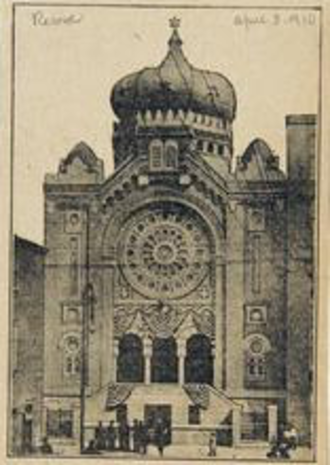 Historic Congregation B'nai Abraham - April 1910, The Philadelphia Record.
