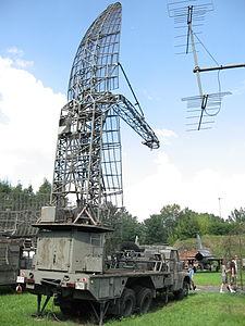 Bożena radiolocation station at the Muzeum Polskiej Techniki Wojskowej in Warsaw.JPG