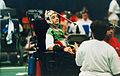 Boccia Kris Bignall during competition, 1996.jpg