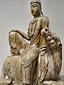Bodhisattva Seated on a Lion Song or Jin Dynasties 11th-early 13th century CE Poplar with traces of polychrome (7065236023).jpg