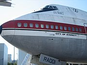The prototype 747, City of Everett, at the Museum of Flight in Seattle, Washington.