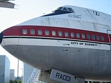 Il primo prototipo di 747, il City of Everett, esposto al museo del volo di Seattle nello stato di Washington