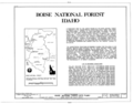 Boise National Forest (site plan), Idaho City, Boise County, ID HABS ID,8-IDCI.V,1- (sheet 1 of 1).png