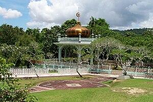 Bolkiah - The tomb of Sultan Bolkiah, near Kota Batu, Brunei.