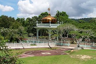 History of Brunei - The tomb of Sultan Bolkiah near Kota Batu. He was the fifth sultan of Brunei and his reign was a golden Age in Brunei's history.