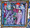 Boniface VIII recevant les Décrétale commentées par Johannes Monachus.jpg